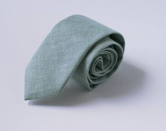 Light Sage Skinny Tie