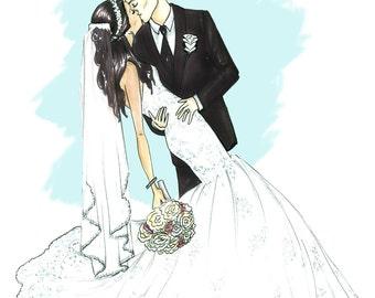 Custom Wedding/ couple Illustrations