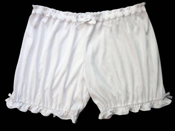 1920s Style Underwear, Lingerie, Nightgowns, Pajamas Womens Bloomers / Soft White Bloomers / Pajama Shorts / Lolita Bloomers $28.00 AT vintagedancer.com