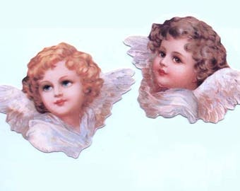 Set of 6 Die Cut Angel Tags or Scraps (3 of each design) Genuine (Newer)