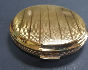 Vintage Stratton Powder Compact, Compact Mirror, Pocket Mirror, Engine Turned Compact, Gifts for Her