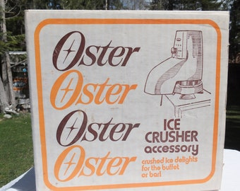 Oster Ice Crusher Accessory, Oster 435 Ice Crusher Accessory New in Original Box
