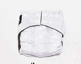 Cloth Diapers, Cloth Diaper Pattern, One Size, All in one, Modern, Bamboo, Nappies, Baby Diaper, Baby Diaper Cover, White