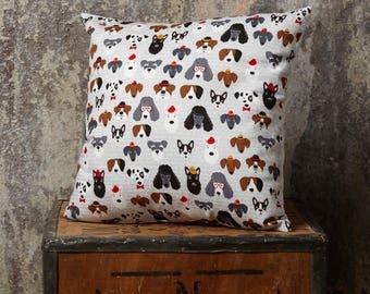 Dog Cushion, Puppy Cushion, Dog Print, Throw Cushion, Decorative Cushion, Insert Included, Dog Pillow, Puppy Pillow