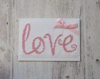 Cursive Love Card   Any Occasion