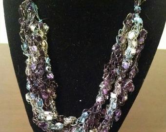 Trellis Necklace / Crochet Necklace Item No. M18