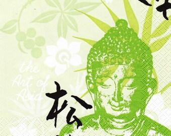 432 PORTRAIT of Buddha 1 towel paper 33 X 33 patterns 2 X 2