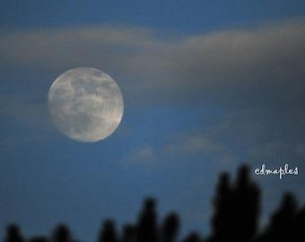 Thunder Moon Photo, July 2017 Full Moon Photo, Thunder Moon 2017 Photo, Moon Photography, Cloudy Moon Photo
