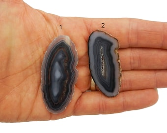Agate Slice - Beautiful Natural Agate Slices - You Choose - Pretty Markings (RK1B4-19)