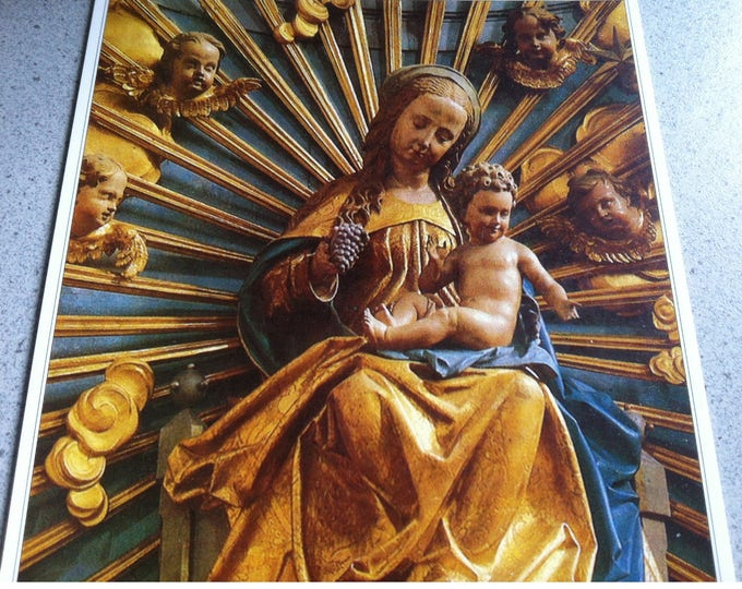 Vintage Religion Church Salzburg Franziskanerkirche Postcard Photo