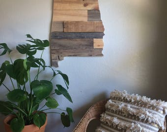 Alabama State Sign | Reclaimed Wood | Pallet Sign | Home Decor | Wall Art |