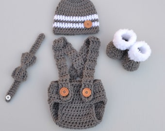 Newborn Boy Photo Outfit Baby Boy Clothes Crochet Baby Outfit Newborn Boy Outfit Crochet Photo Prop Outfit Baby Boy Outfit For Photo
