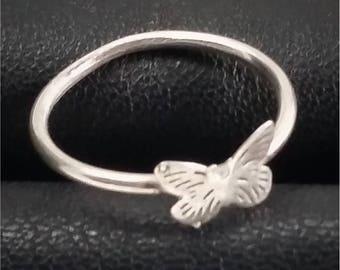 Sterling silver ring, silver ring, sterling silver ring, butterfly ring, silver, butterfly, handmade ring, ring