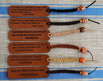 Southwestern Style Bookmarks Featuring Famous Author Quotes