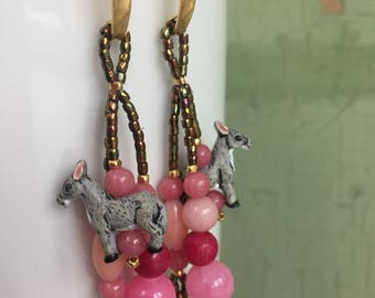 Boho donkey earrings