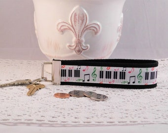 Music Themed Keychain Wristlet