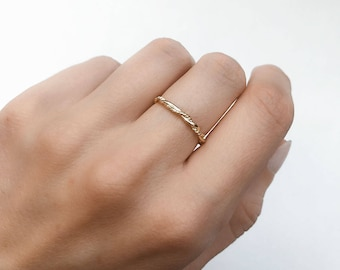 Gold dainty ring - stacking ring - dainty ring - minimalist jewelry - tiny thin ring - Dainty jewelry - R097