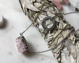 Genuine Rose Quartz Passion Necklace
