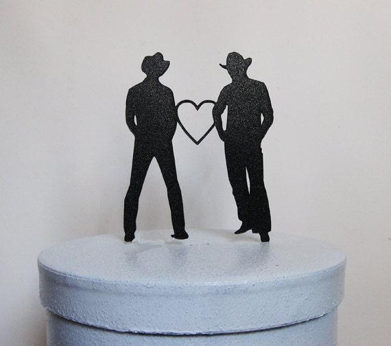 Captivating Wedding Cake Topper Same Sex Wedding Gay Wedding Two