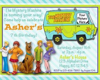 Scooby Doo Birthday Invitation, Digital File, You Print