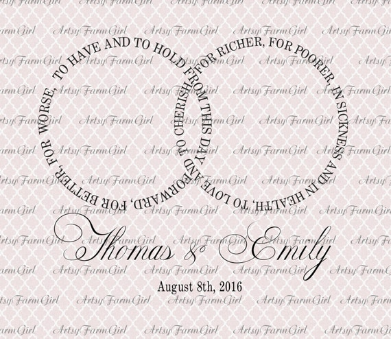 wedding vows to have and to hold interlocking rings svg