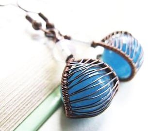 Wire Wrapping Earrings Tutorial, Simple DIY Jewelry Pattern, Wire Earrings Tutorial