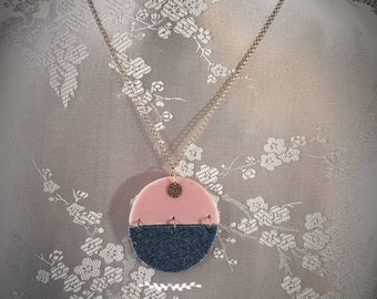 Two-faced round Locket necklace