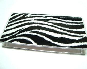 Checkbook Cover , Holder - Zebra