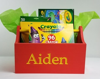 Personalized Storage Caddy - Many Color Combinations Available