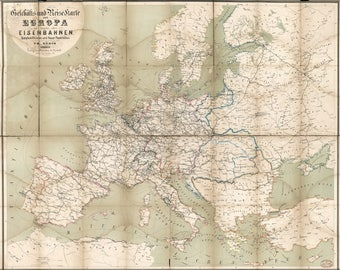 Poster, Many Sizes Available; Map Of Europe 1866 In German