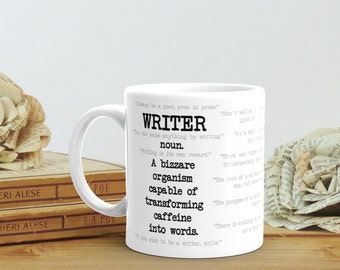 Gift for Writer, Mug for Writer, Writer Quotes, Journalist Gift for Her, Author Gift for Him, Writer Gift for Best Friend, Literary Gift