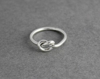 Sterling Silver Wire Love Knot Ring