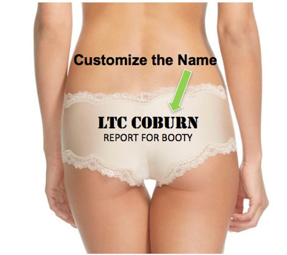 Custom Panties Military Rank and Name Report For Booty FAST SHIPPING