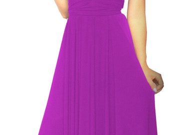 Bridesmaids dress in magenta colors floor length  free matching tube top