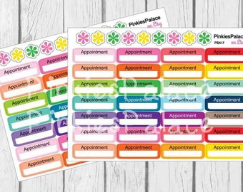 Appointment Planner Stickers Reminders - 28 Stickers eclp made to Erin Condren PS417