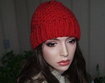 Knitting Accessories Slouch Hats Oversized  womens fall winter accessory  Super Chunky Hand Made Knit
