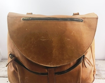 Large C&C Vintage Leather Bag