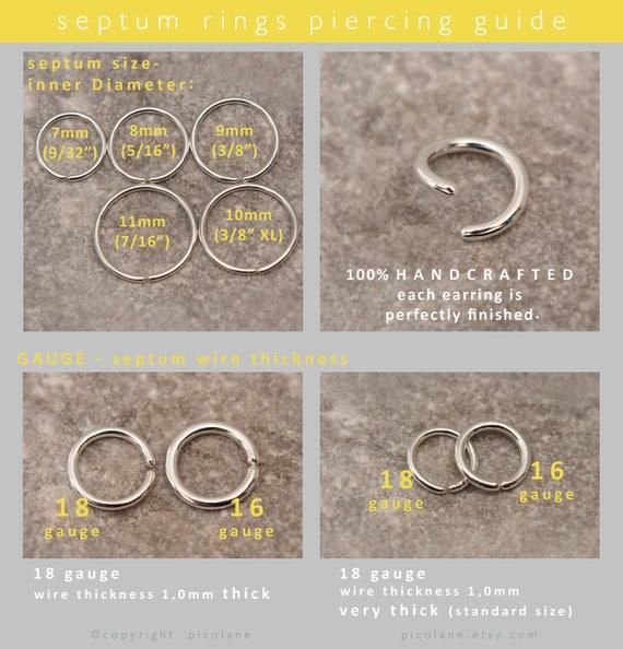 Septum ring septum jewelry septum piercing 14k yellow 50 keyboard keysfo Image collections