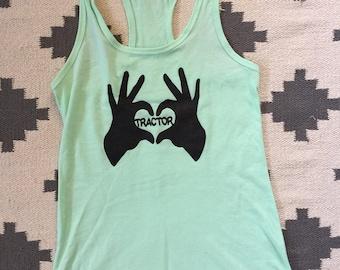 Widespread Panic Shirt-Love Tactor-Women's Racerback Tank Top-Sizes XS S M L XL XXL