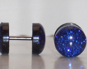 Deep Blue Sea Glitter Fake Plugs