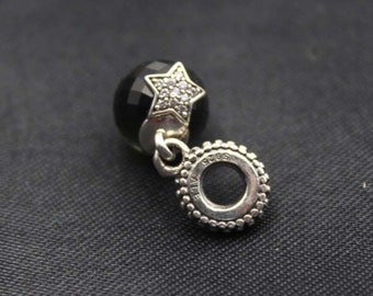 Authentic Pandora Moon & Star Midnight Blue CZ #791392NBC
