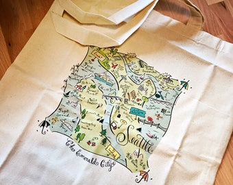 Seattle Green Map City Tote