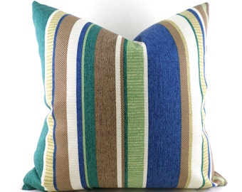Indoor Outdoor Pillow Covers ANY SIZE Decorative Pillows Green Pillow Richloom Outdoor Coltrane Chambray