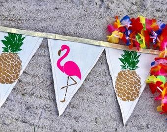 Flamingo Banner Flamingo Birthday Flamingo Party Flamingo Party Decor Let's Flamingle Summer Party Flamingo Theme Luau Party Flamingo