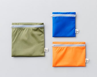 Mountain trio ~ reusable sandwich and snack bags ~ Reusable snack and sandwich zipper bags