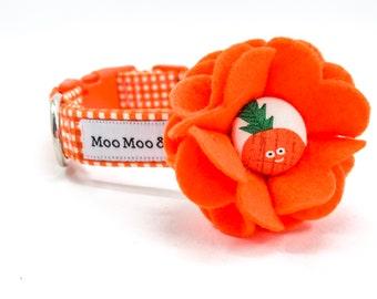 Calypso Fruity Pineapple Dog Collar Flower with Handmade Button