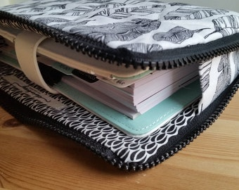 Quilted L Zipped Pouch Planner