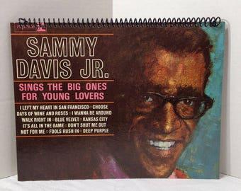 Sammy Davis Jr Album Cover Notebook Handmade Spiral Journal Rat Pack