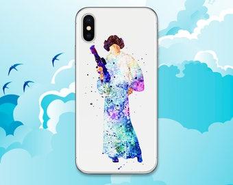 Princess Leia iPhone X case Star Wars Samsung S9 case Leia Organa iPhone 8 Plus Galaxy S8 Pixel LG G6 case iPod 6 iPhone 7 case Note 8 case