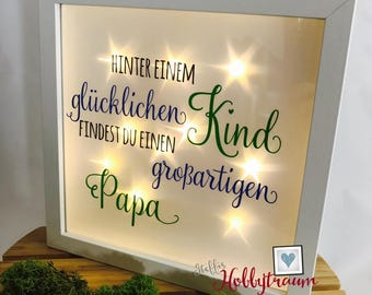 Bright-line frame, father's day, Dad, father, 3D frame, Star film